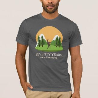 70. Geburtstag siebzig Jahre u. noch schwinggolf T-Shirt
