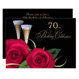 70. Geburtstags-Feier-Gewohnheits-Einladungen 12,7 X 17,8 Cm Einladungskarte