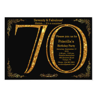 70., Geburtstags-Party, siebzig, Gatsby, schwarzes Karte