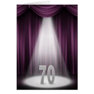 70. Hochzeitstag im Scheinwerfer Karte