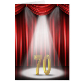 70. Jahrestags-Scheinwerfer-Glückwünsche Karte