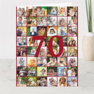 70. oder jedes Alter Foto Collage Big Birthday Karte