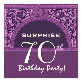 70 ÜBERRASCHUNG Geburtstags-lila Individuelle Ankündigungskarte