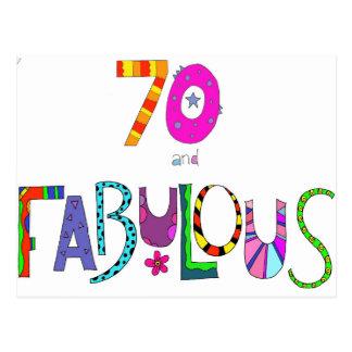 70 und fabelhafter 70. Geburtstag Postkarte