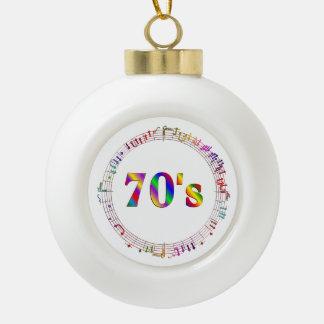 70er Musik Keramik Kugel-Ornament