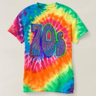 70er Slogan-gefärbte Krawatte! T-shirt