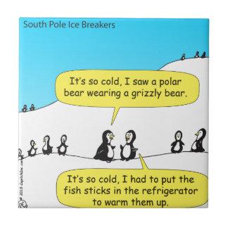 716 war es so kalter Penguins-Cartoon Fliese