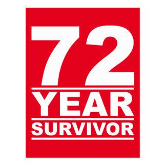 72-jähriger Überlebender Postkarte