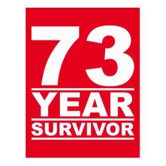 73-jähriger Überlebender Postkarte