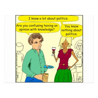 749 schreibe ich einen politischen Blog-Cartoon Postkarten