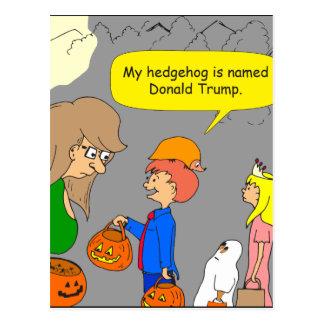 755 Igel genannter Donald- TrumpCartoon Postkarte