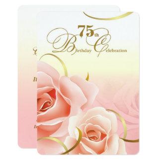 75. Geburtstags-Feier-Gewohnheits-Einladungen 12,7 X 17,8 Cm Einladungskarte