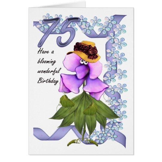 75. Geburtstags-Karte mit Moonies niedlichen Grußkarte