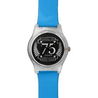 75. Hochzeitstag DIAMANT-GOLD Armbanduhr