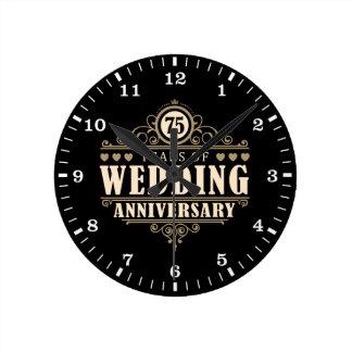 75. Hochzeitstag Wanduhren
