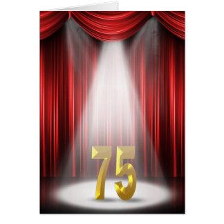 75. Jahrestags-Scheinwerfer-Glückwünsche Karte
