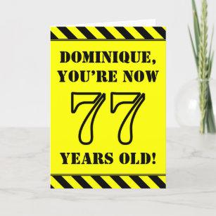 77. Geburtstag: Fun Stiltext, Individuelle Name Karte