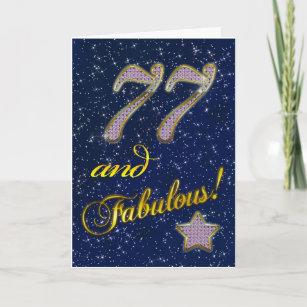 77. Geburtstag für jemand fabelhaft Karte