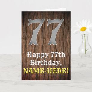 77. Geburtstag: Inspirierter Western Karte