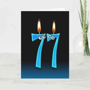 77. Geburtstags-Kerzen Karte