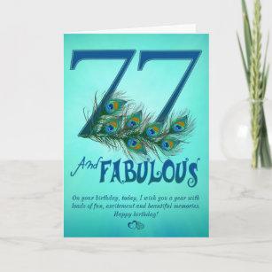 77. Geburtstagsschablone Karten
