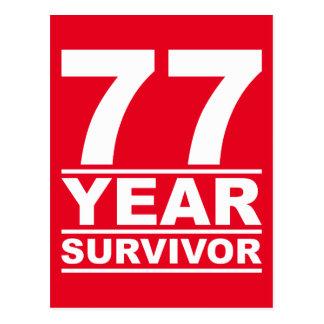 77-jähriger Überlebender Postkarte