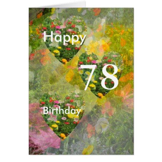 78. Geburtstag Karte