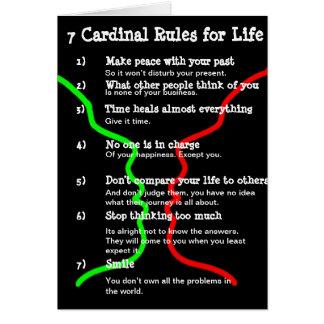 7 Kardinals-Regeln für das LEBEN Karte