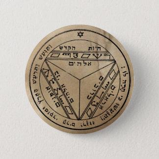 7. Pentagramm von Saturn-Knopf Runder Button 5,7 Cm