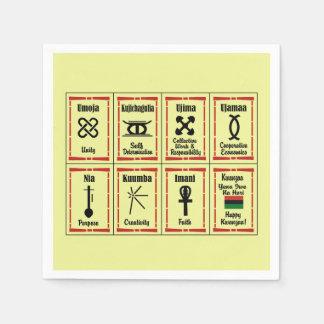 7 Prinzip-Kwanzaa-Party-Papierservietten Servietten