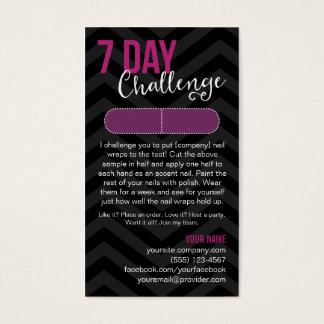 7 Tagherausforderungs-Beispielkarten-Visitenkarten Visitenkarte