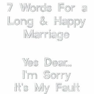 7 Wörter für eine lange u. glückliche Heirat, ja