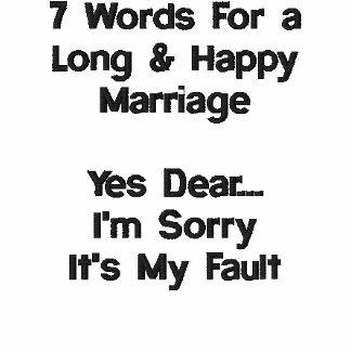 7 Wörter für eine lange und glückliche Heirat Polo Shirt