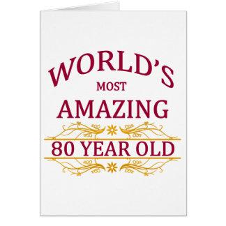 80. Geburtstag Karte