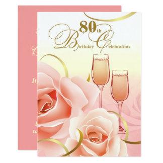 80. Geburtstags-Feier-Gewohnheits-Einladungen 12,7 X 17,8 Cm Einladungskarte