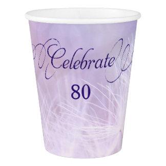 80. Geburtstags-Party-kundenspezifische Pappbecher