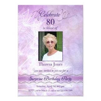 80. Überraschungs-Geburtstags-Party Einladungen Karte