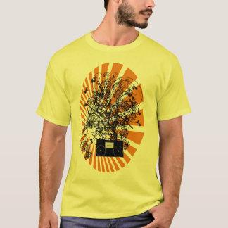 80er Boom-Kasten-Orange T-Shirt