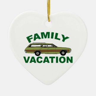 80er Familien-Ferien Keramik Herz-Ornament