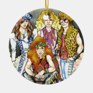 80er Hairband - 80er Retro Rundes Keramik Ornament