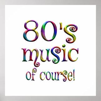 80er Musik von Couse Poster