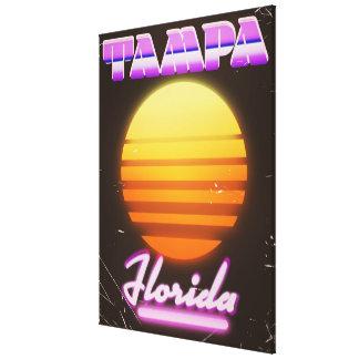 80er-Reiseplakat Tampas Florida Vintages Leinwanddruck