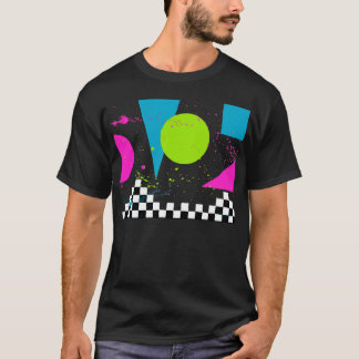 80er Splatterpaint T-Stück T-Shirt