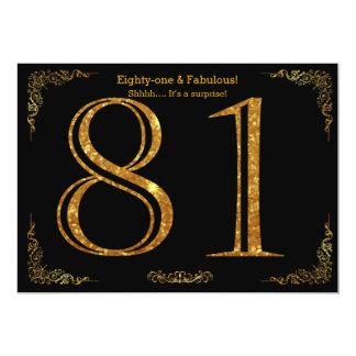 81. Geburtstags-Party, Gatsby styl, schwarzer Karte