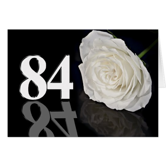 84. Geburtstags-Karte mit einer klassischen weißen Grußkarte