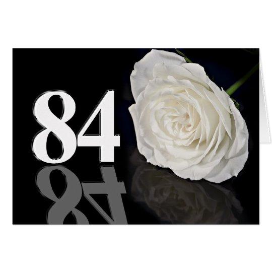 84. Geburtstags-Karte mit einer klassischen weißen Karte