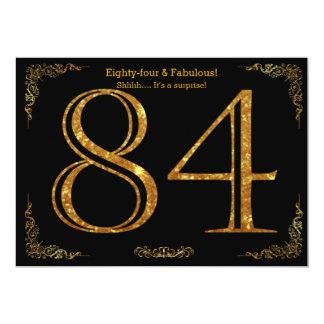 84. Geburtstags-Party, Gatsby styl, schwarzer 12,7 X 17,8 Cm Einladungskarte