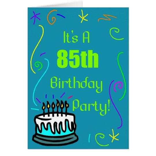 85th Geburtstags-Party Einladung Grußkarte