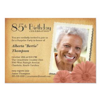 85th Geburtstags-Vintage 12,7 X 17,8 Cm Einladungskarte