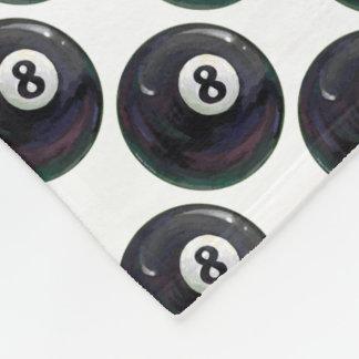 8 Ball-Muster Fleecedecke